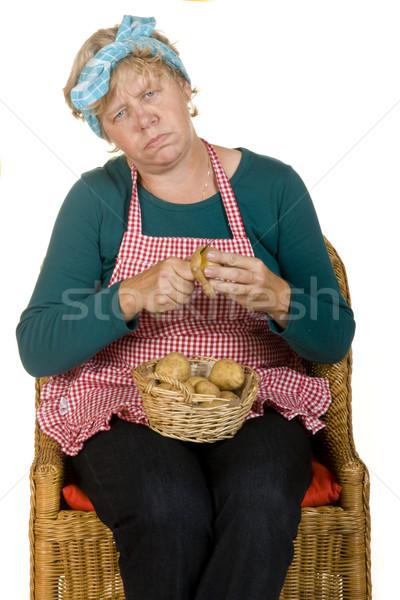 Vervelend huis zoals gelukkig keuken werken Stockfoto © ivonnewierink