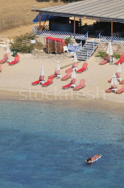 静か ビーチ リラックス 休暇 建物 海 ストックフォト © ivonnewierink