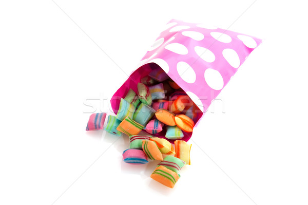 colorful candy in paper bag Stock photo © ivonnewierink