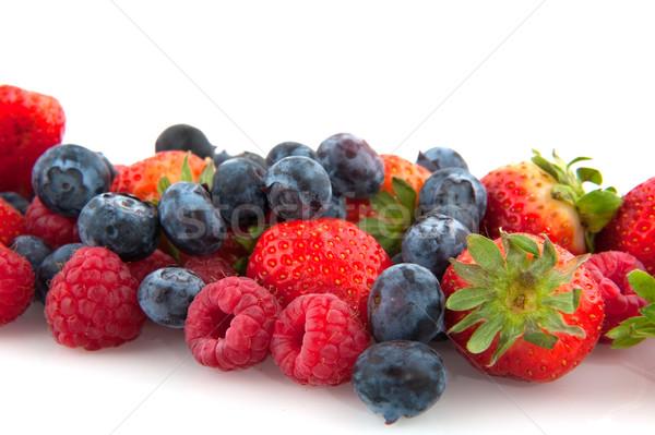 Kleurrijk gemengd geïsoleerd witte voedsel Stockfoto © ivonnewierink