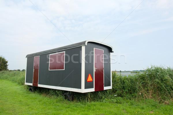 Wagon in landscape Stock photo © ivonnewierink