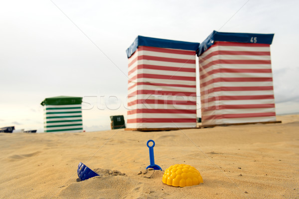 Beach chair and toys at the sea Stock photo © ivonnewierink