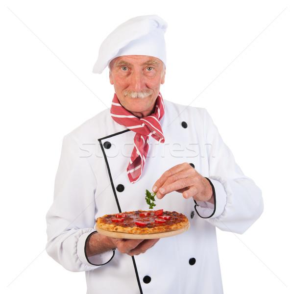 Stok fotoğraf: İtalyan · pişirmek · pizza · dokunmayın