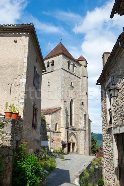 Little lane Saint-cirq-Lapopie Stock photo © ivonnewierink
