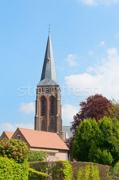 Nederlands kerk plaats gebouw architectuur toren Stockfoto © ivonnewierink