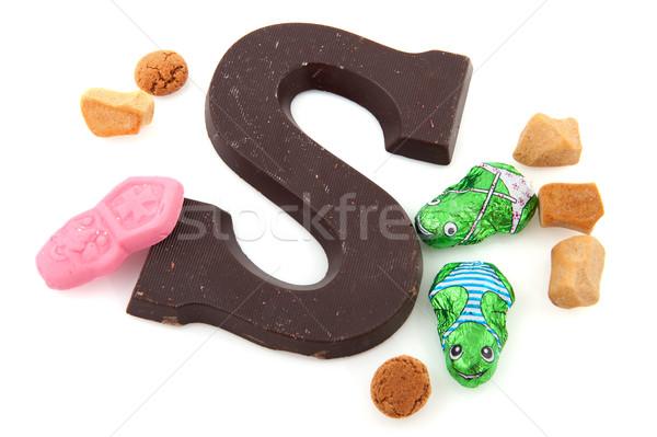 Stockfoto: Snoep · pop · ander · nederlands · geïsoleerd · witte