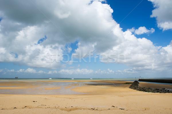 Spiaggia fort panorama acqua estate gioco Foto d'archivio © ivonnewierink