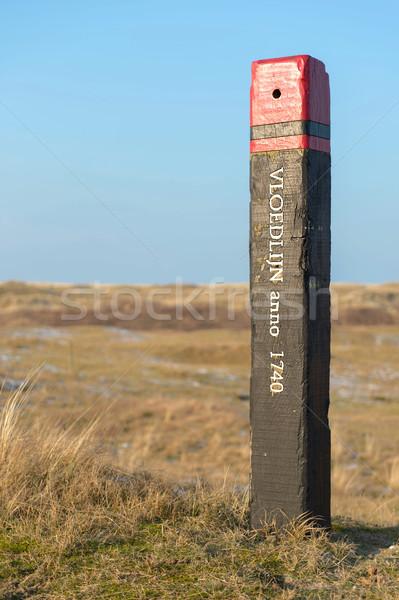 Pol Wasser Holz Insel Stock foto © ivonnewierink