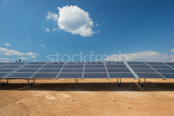 Solar panels Stock photo © ivonnewierink