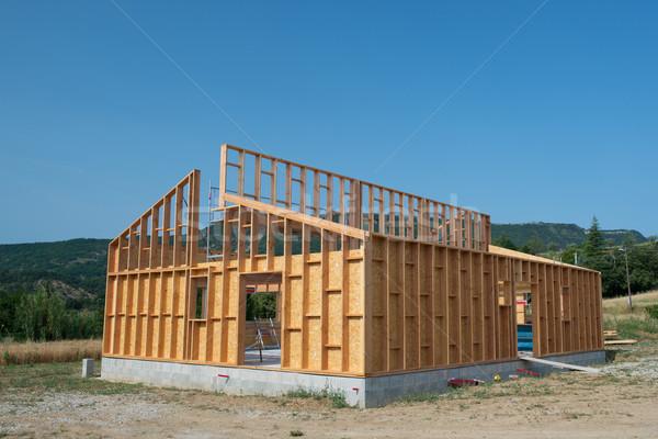 建物 木製 家 フレーム ホーム ストックフォト © ivonnewierink