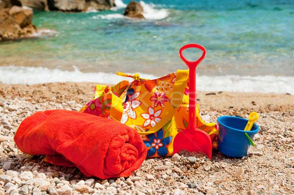 Beach bag with towel Stock photo © ivonnewierink