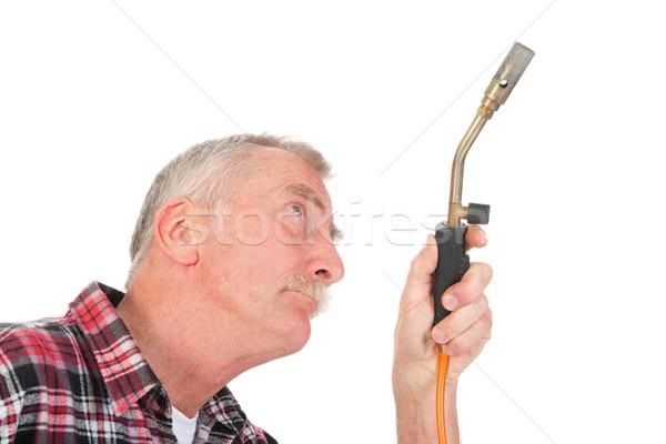 Handyman solder Stock photo © ivonnewierink