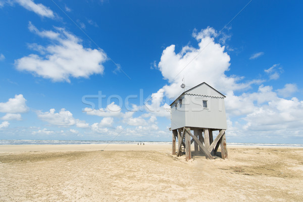 Drowning house at the beach Stock photo © ivonnewierink