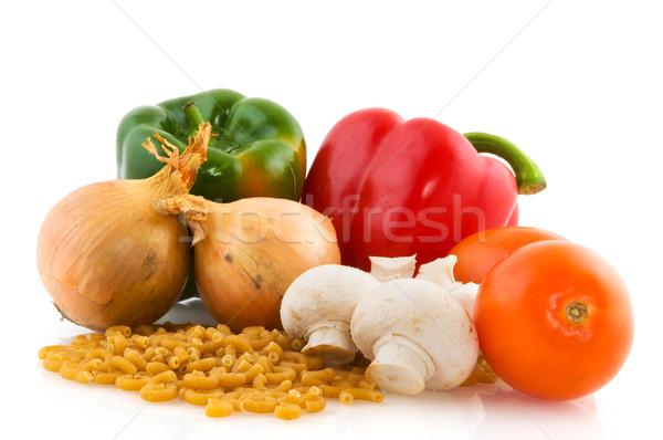 Greggio ingredienti pasta vegetariano italiana cucina Foto d'archivio © ivonnewierink