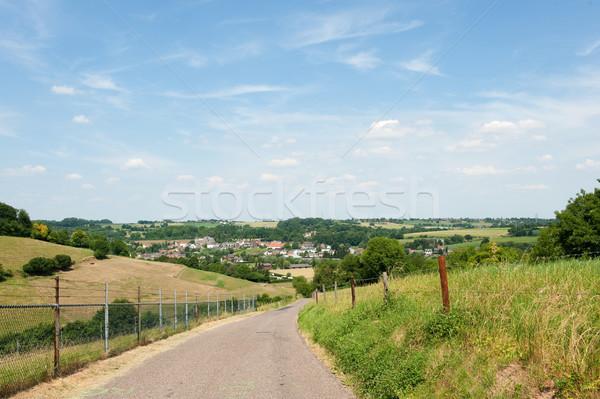 Dutch landscape with village Stock photo © ivonnewierink