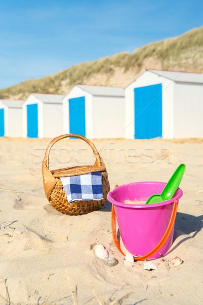 Stok fotoğraf: Tatil · plaj · mavi · beyaz · oyuncaklar