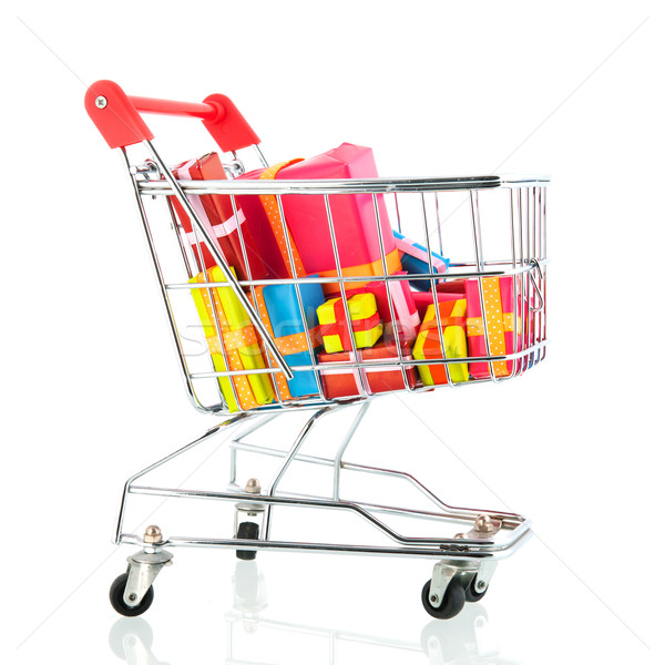 Shopping cart with presents Stock photo © ivonnewierink