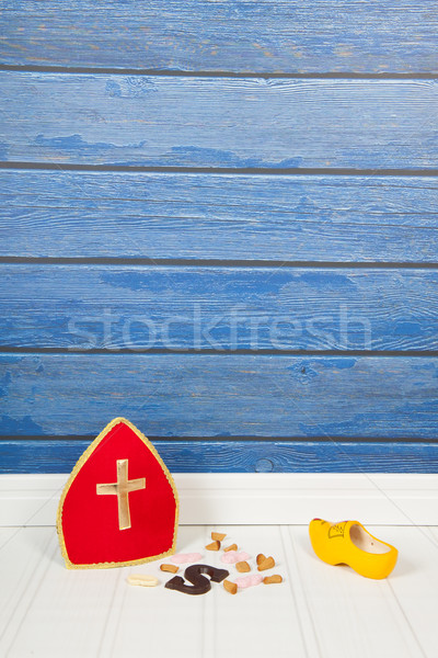 Nederlands snoep chocolade Blauw Rood vloer Stockfoto © ivonnewierink