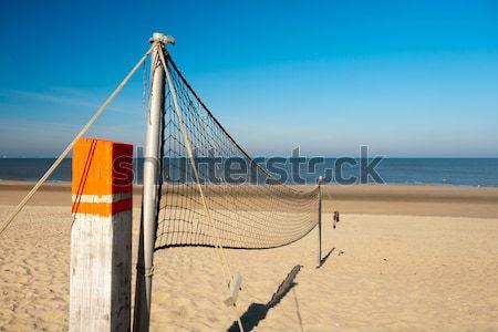 ビーチ ボレー 純 太陽 海岸 海 ストックフォト © ivonnewierink