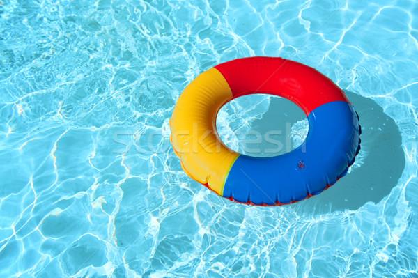 Yüzme havuzu oyuncaklar su seyahat yüzme temizlemek Stok fotoğraf © ivonnewierink
