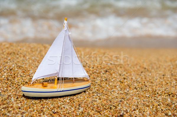 Toy sail boat Stock photo © ivonnewierink