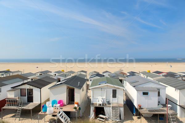 Beach huts in Holland Stock photo © ivonnewierink