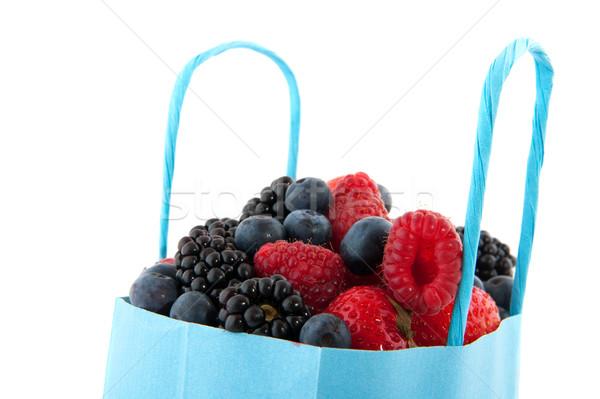 çeşitlilik taze meyve taze orman meyve mavi Stok fotoğraf © ivonnewierink