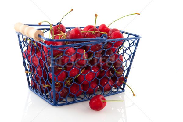 Bevásárlókosár anime kék friss étel gyümölcs Stock fotó © ivonnewierink