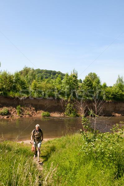 Walking in nature landscape Stock photo © ivonnewierink