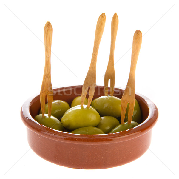 Green olives Stock photo © ivonnewierink