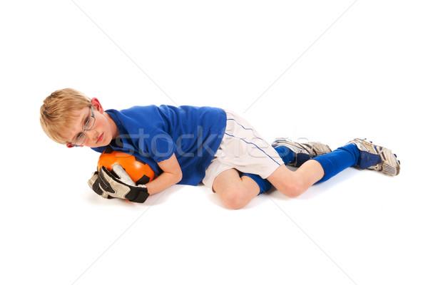 ストックフォト: 少年 · サッカー · ブロンド · 演奏 · スポーツ