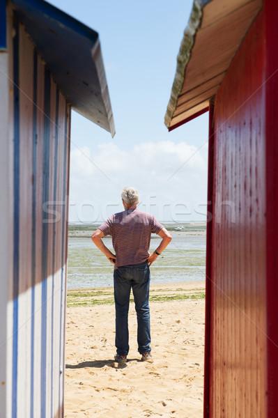 Stok fotoğraf: Adam · plaj · renkli · ada · Fransa