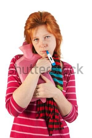 больным женщину воды медицинской зима Сток-фото © ivonnewierink
