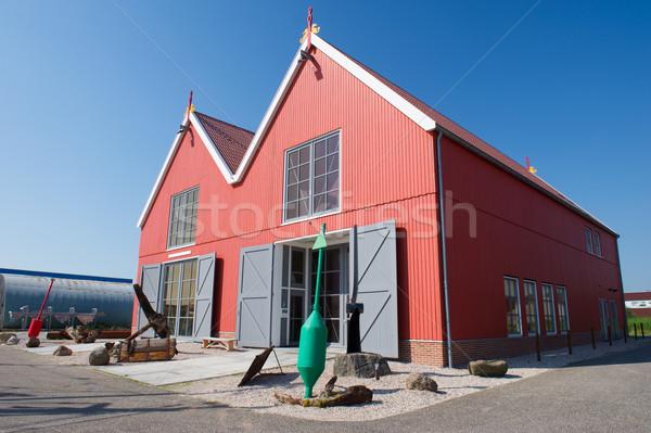 Red wooden warehouses Stock photo © ivonnewierink