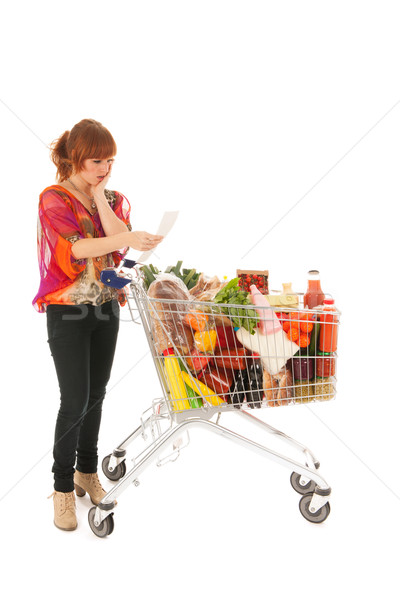 Expensive weekly groceries Stock photo © ivonnewierink