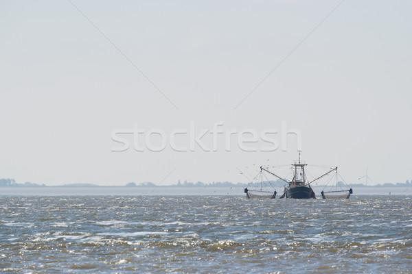 Vissersboot nederlands zee water boot schip Stockfoto © ivonnewierink