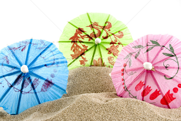 tropical parasols Stock photo © ivonnewierink