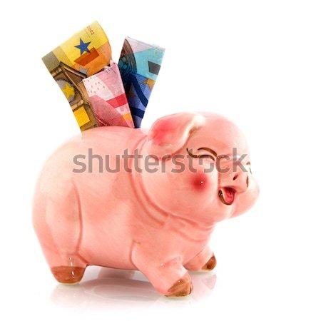 Takarékosság pénz eurók persely bank Európa Stock fotó © ivonnewierink