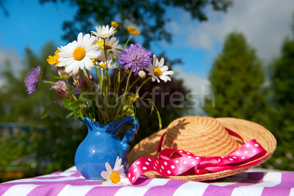Flower bouquet in the summer garden Stock photo © ivonnewierink