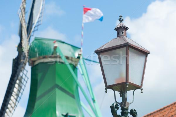 антикварная голландский свет полюс медь Голландии Сток-фото © ivonnewierink
