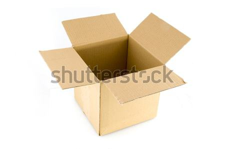 üres csomag doboz karton ajándék karton Stock fotó © ivonnewierink