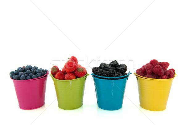 Stock fotó: Diverzitás · friss · gyümölcs · gyümölcs · színes · izolált · fehér