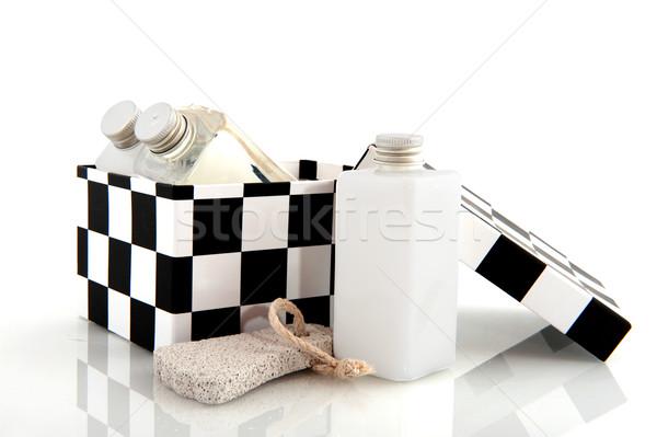 Kosmetyki matka kąpieli ciało różowy kobieta Zdjęcia stock © ivonnewierink