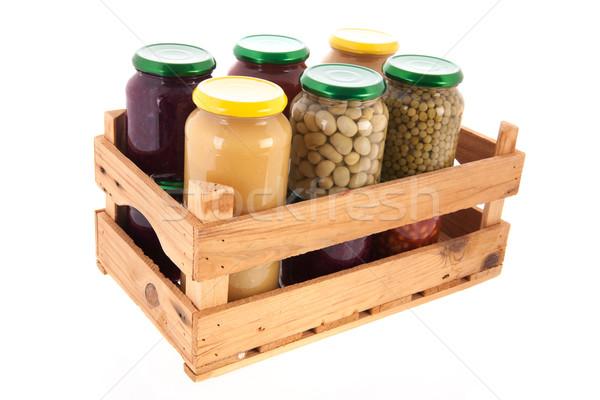Сток-фото: консервированный · овощей · полный · стекла