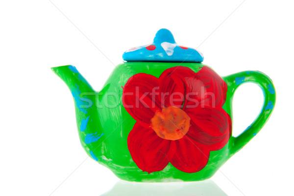 Self painted tea pot Stock photo © ivonnewierink