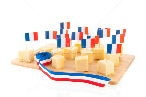 French cheese cubes Stock photo © ivonnewierink