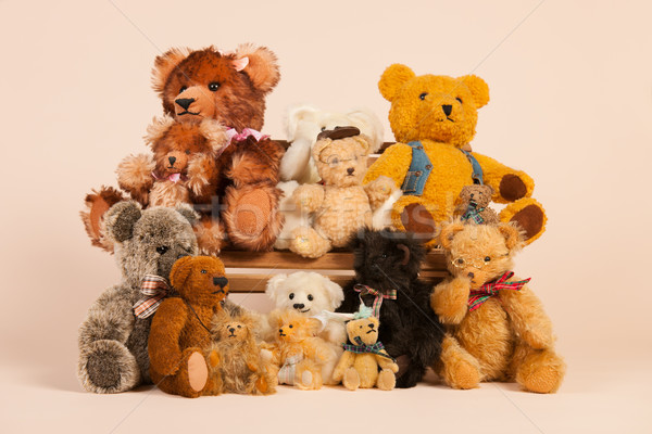 Bears sitting on banch  Stock photo © ivonnewierink