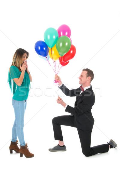 proposition de mariage Stock photo © ivonnewierink