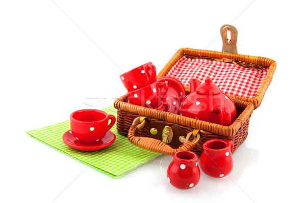 picnic with red crockery Stock photo © ivonnewierink