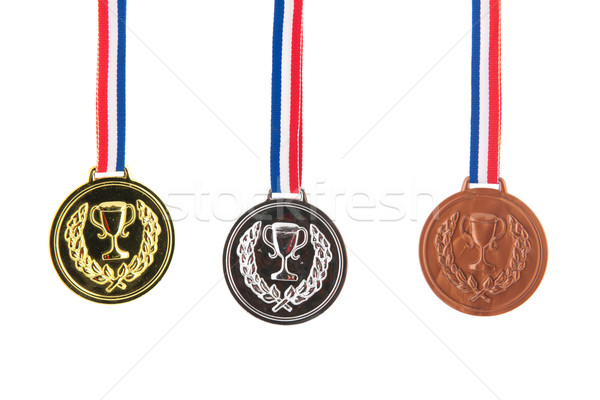 Or argent bronze trois gagnants Photo stock © ivonnewierink